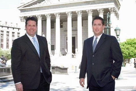Jeffery & Ken Litmam at New York County Court House - Personal injury attorneys always on your side.